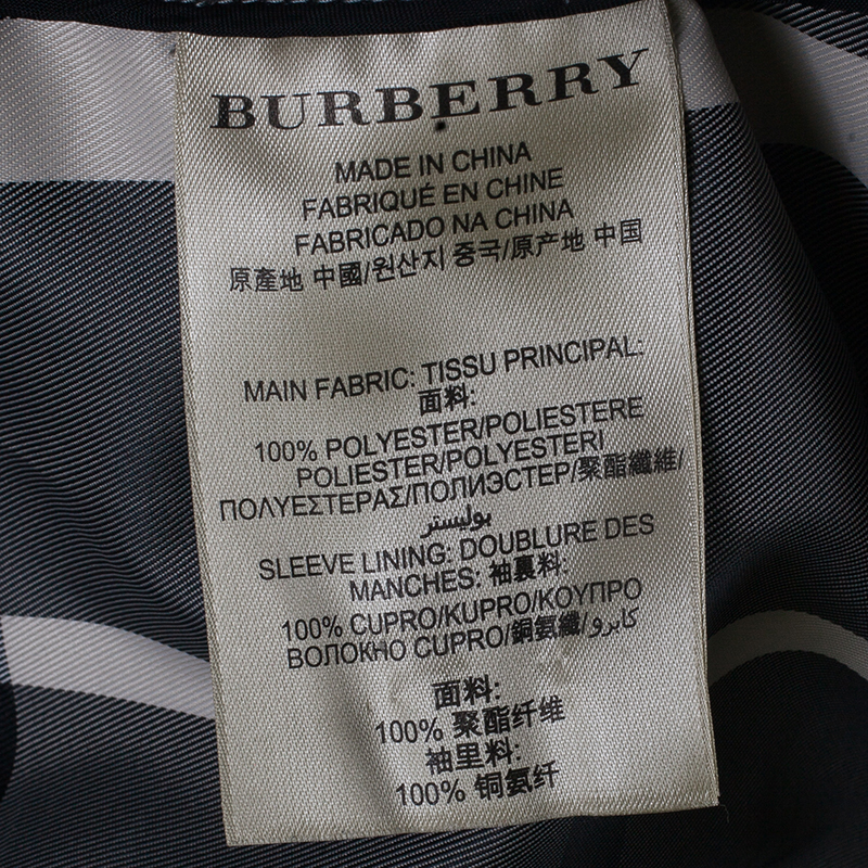 Burberry Monochrome Print Trenchcoat S