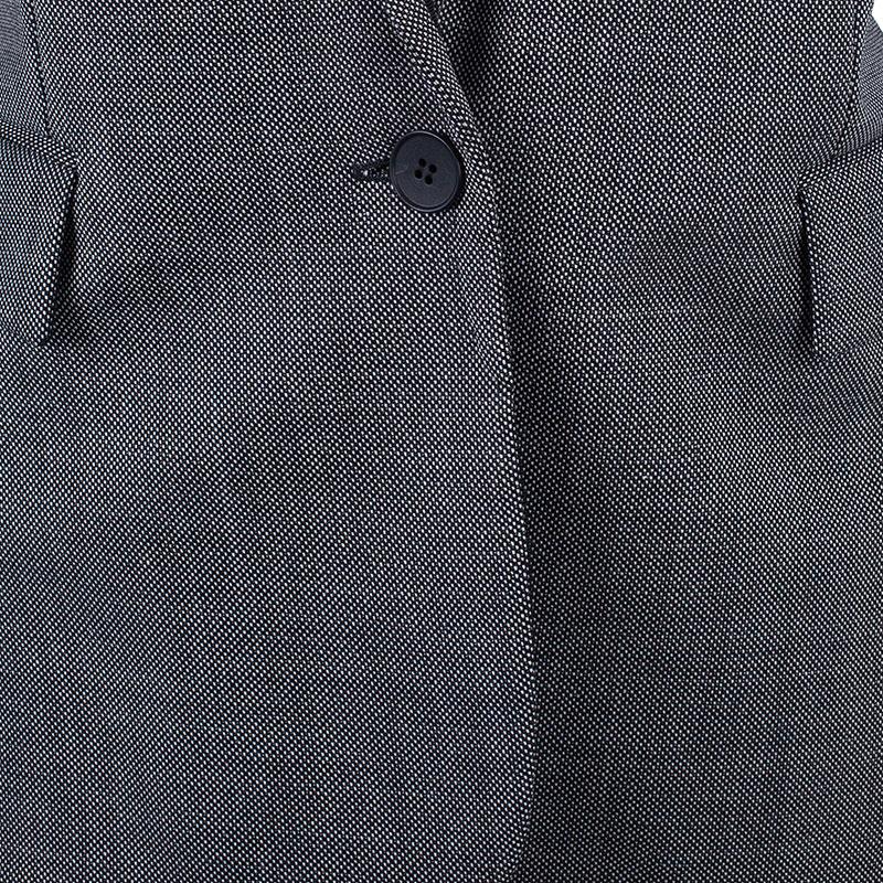 Stella McCartney Grey Twill Shawl Lapel Blazer M