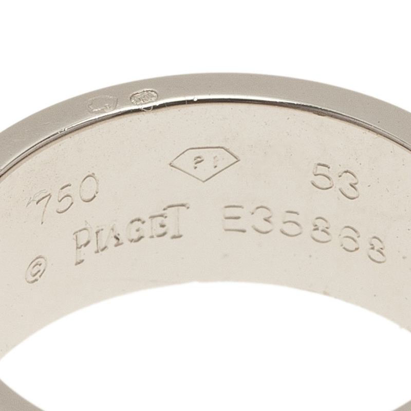 Piaget Possession Eccentric Diamond White Gold Band Ring Size 53