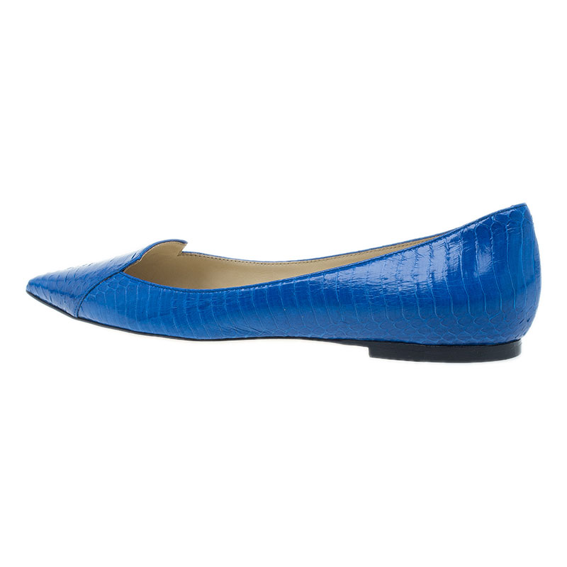 Jimmy Choo Royal Blue Pointed Flats Size 38