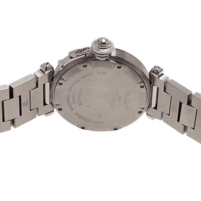 Cartier White Stainless Steel Pacha C Women's Wristwatch 35MM
