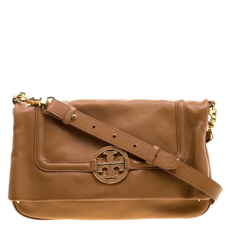 b8fbacfc0cd ... discount code for tory burch brown leather amanda foldover crossbody bag.  nextprev. prevnext ebe2d ...
