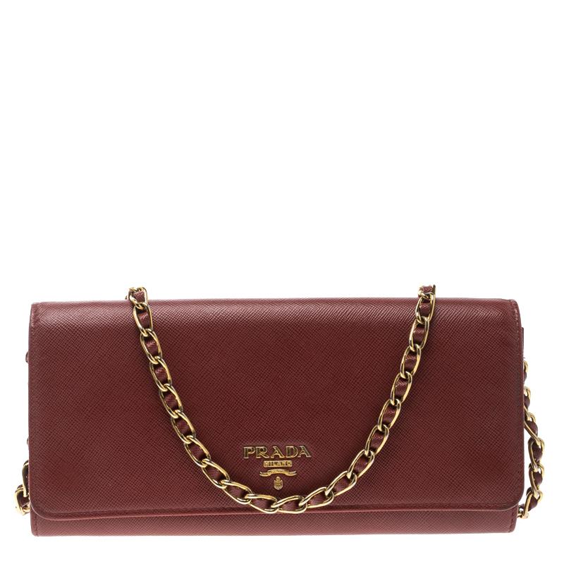 0810eacc072e0b ... promo code prada red saffiano metal leather wallet on chain. nextprev.  prevnext bfd3f b1c05