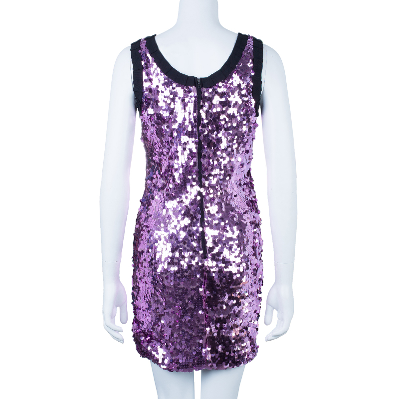 D and G Sequin Shift Dress S