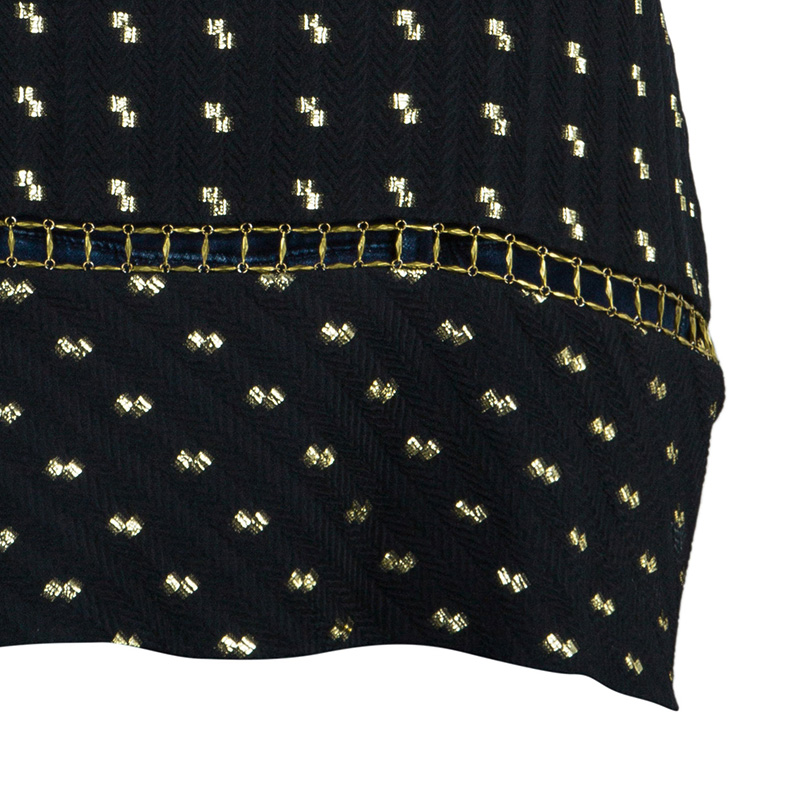 Chloe Black Gold Detail Top M