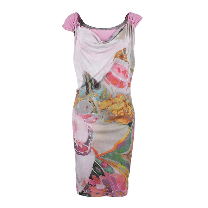 Philosophy di Alberta Ferreti Silk Chiffon Printed Dress S