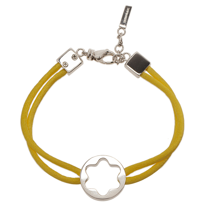montblanc star yellow cord silver bracelet buy sell lc. Black Bedroom Furniture Sets. Home Design Ideas