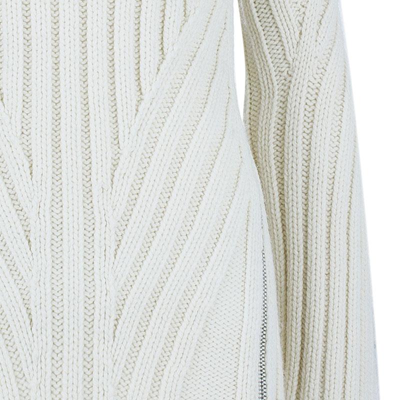Alexander McQueen White Knit Turtleneck Sweater XS