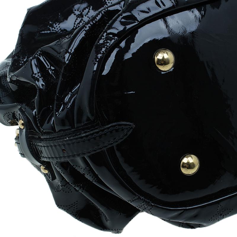 Louis Vuitton Limited Edition Black Patent Leather Surya L Bag