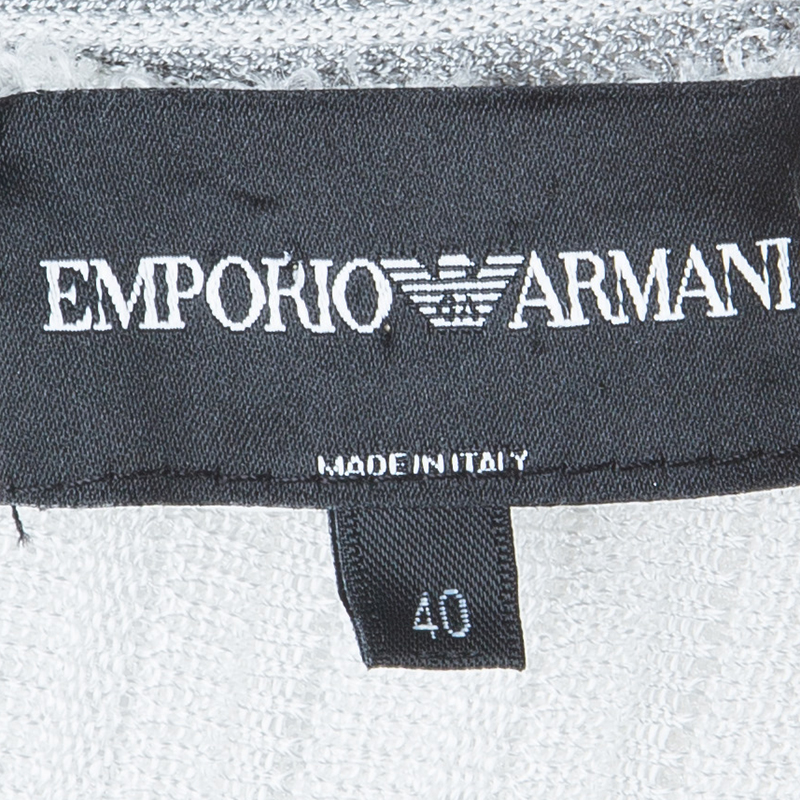 Emporio Armani White Tiered Knit Skirt S