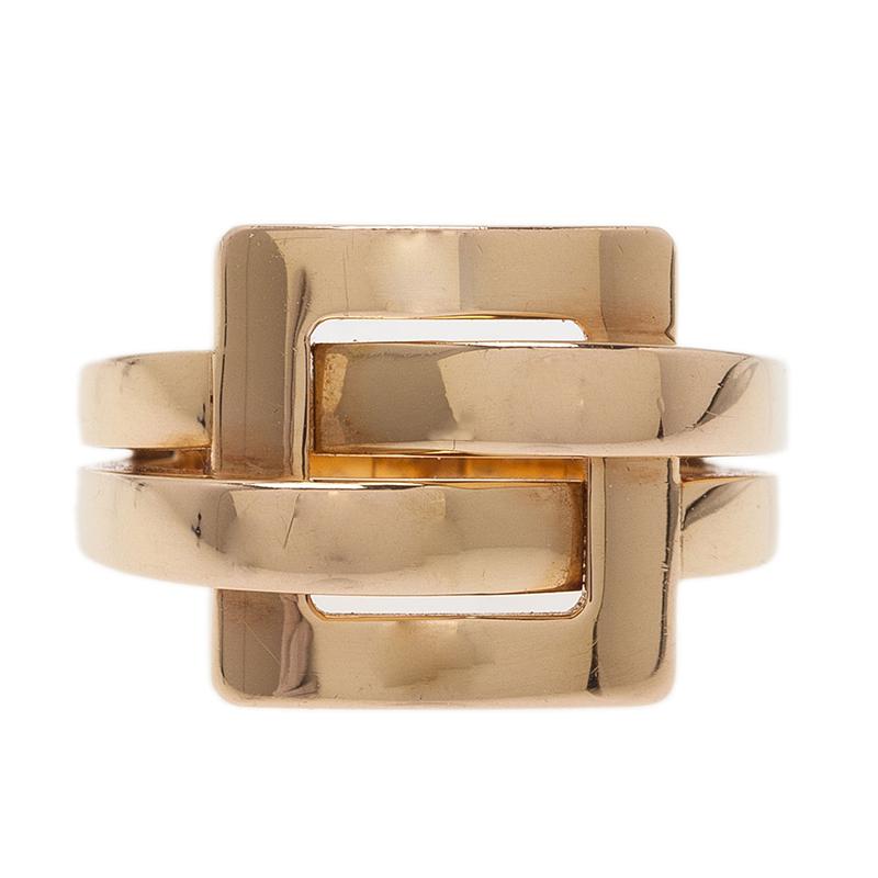 Boucheron Déchaînée Yellow Gold Ring Size 52