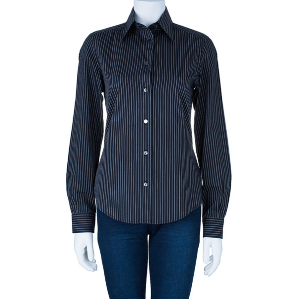 Dolce and Gabbana Striped Formal Shirt S