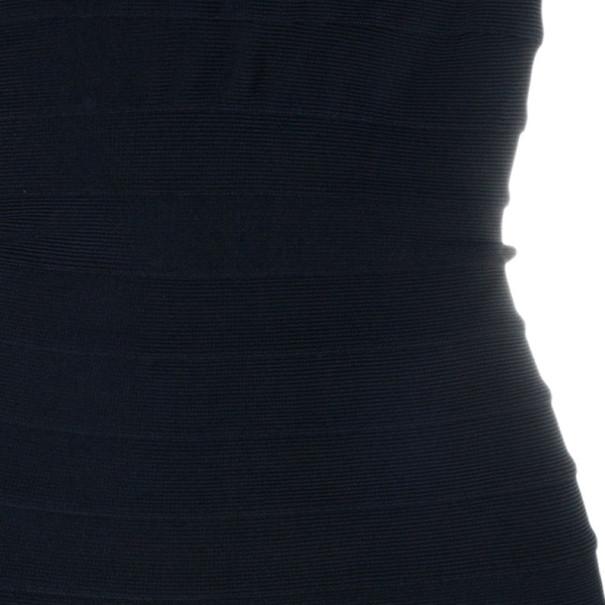 Herve Leger Front Chain Embellished Bandage Dress S