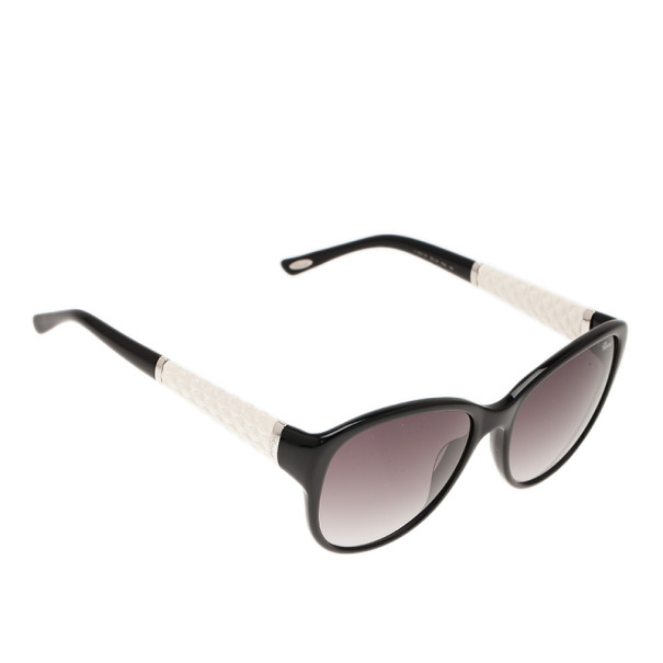 Chopard Black and White SCH127 Cat Eye Sunglasses