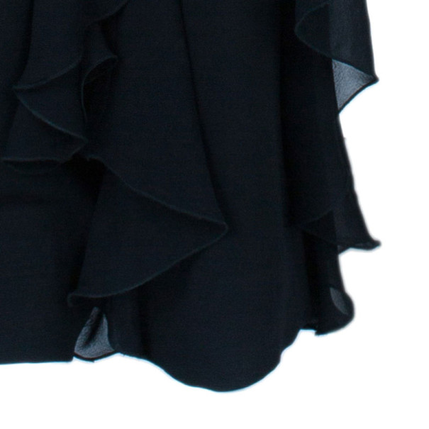 Valentino Black Ruffle Short Long Hem Pants M