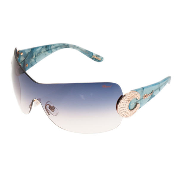 Chopard Blue SCH939S Shield Sunglasses
