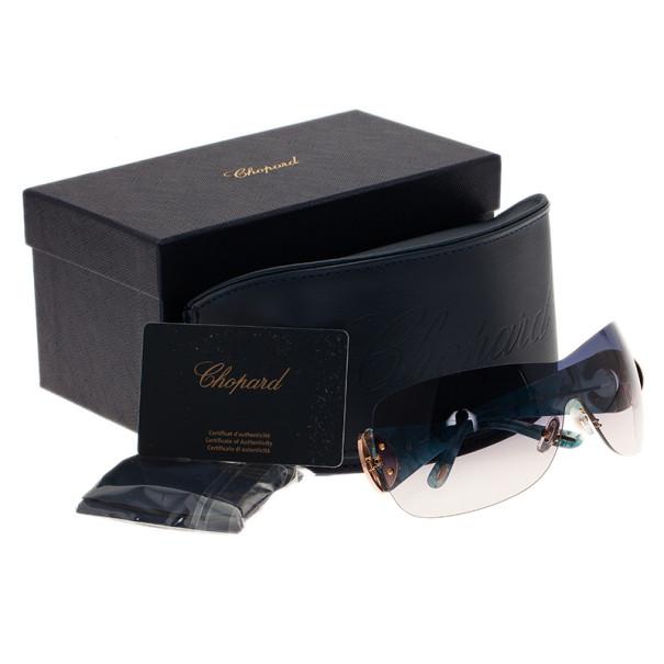 Chopard Blue SCH939S Shield Sunglasses