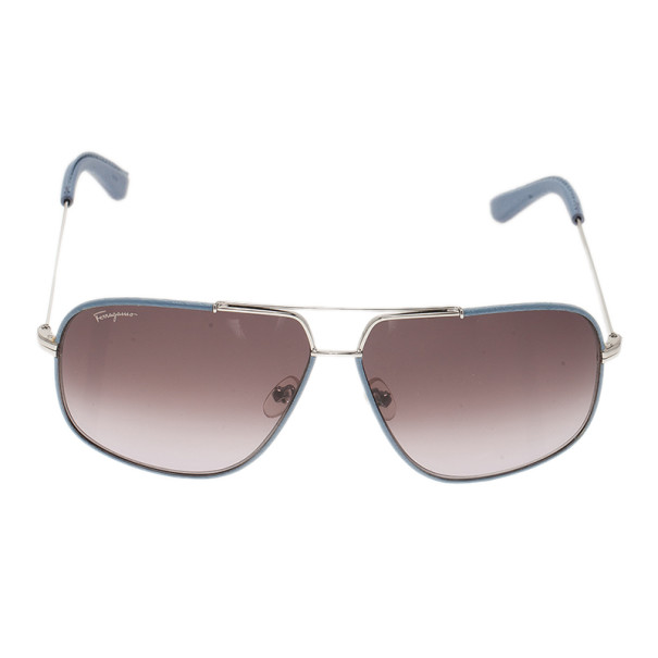 Salvatore Ferragamo Blue SF119SL Aviators