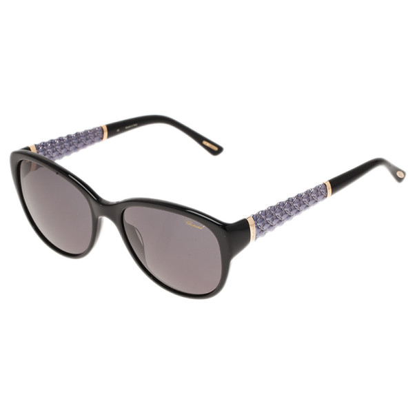 Chopard Black SCH127 Cat Eye Sunglasses