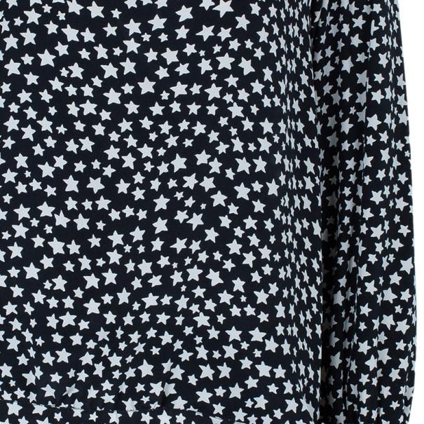 Saint Laurent Star Print Silk Top M