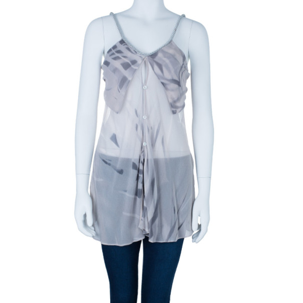 Giorgio Armani Silk Sleeveless Gather Top S
