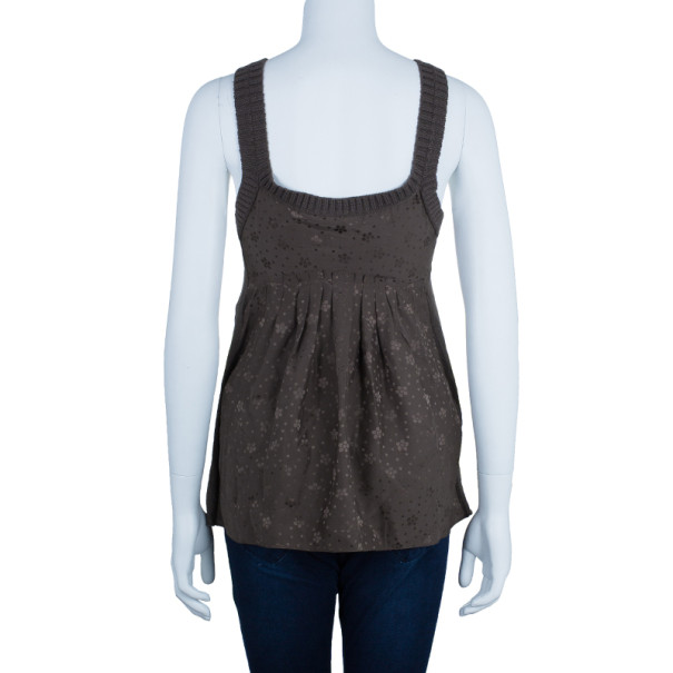 Marc by Marc Jacobs Brown Rib Trimming Tank Top M