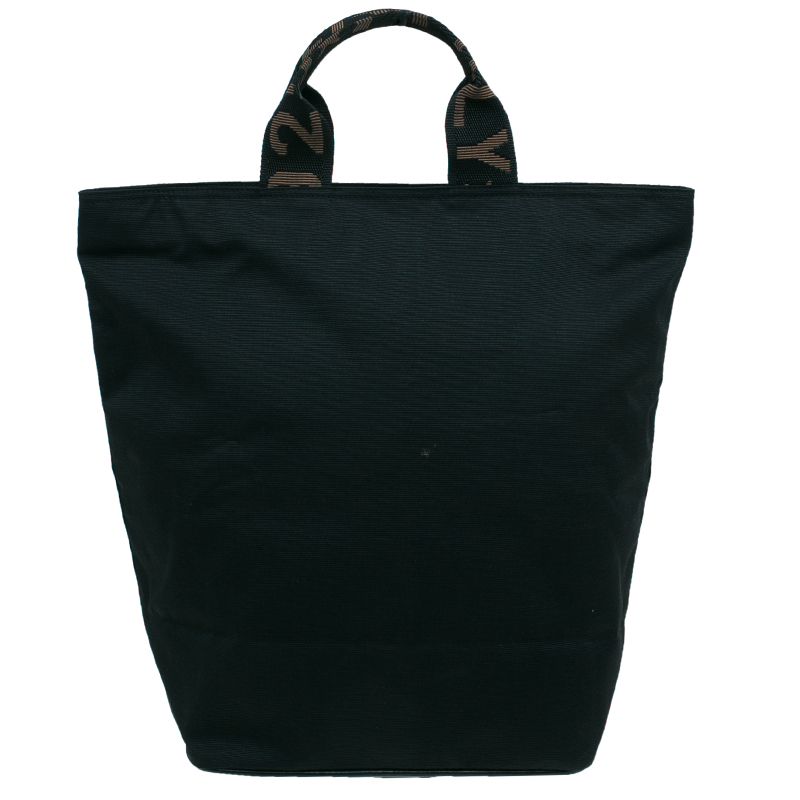 Fendi Black Nylon Shopper Tote
