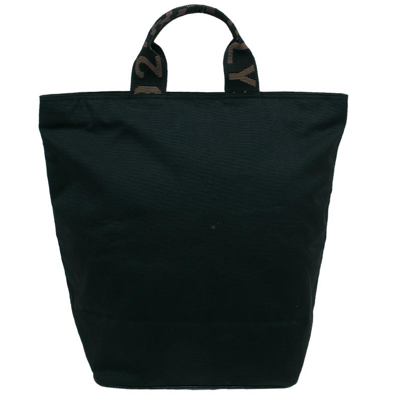 Fendi Black Nylon Shopper Tote