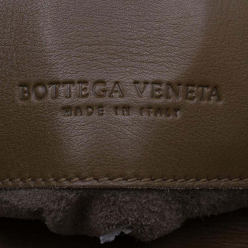 Bottega Veneta Brown Soft Leather Stitch Detail Tote