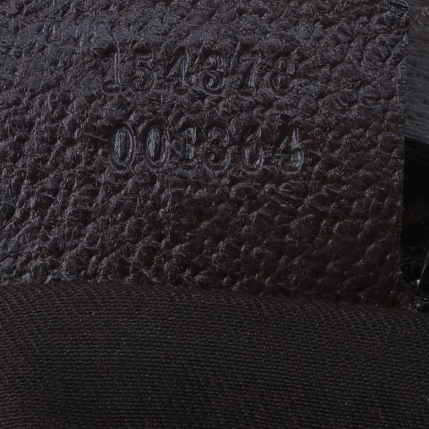 Gucci Brown Canvas Small GG Monogram Amalfi Hobo