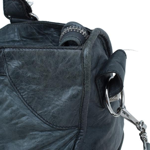 Balenciaga Grey Lambskin Medium Part Time Bag