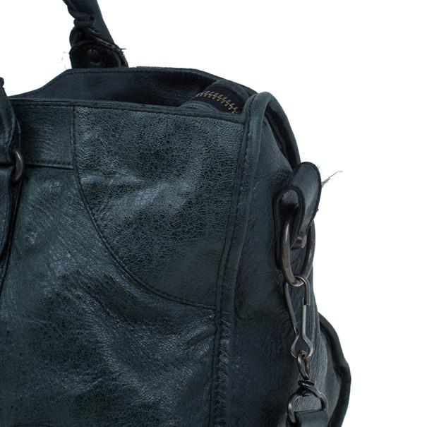 Balenciaga Green Leather Medium Part Time Bag