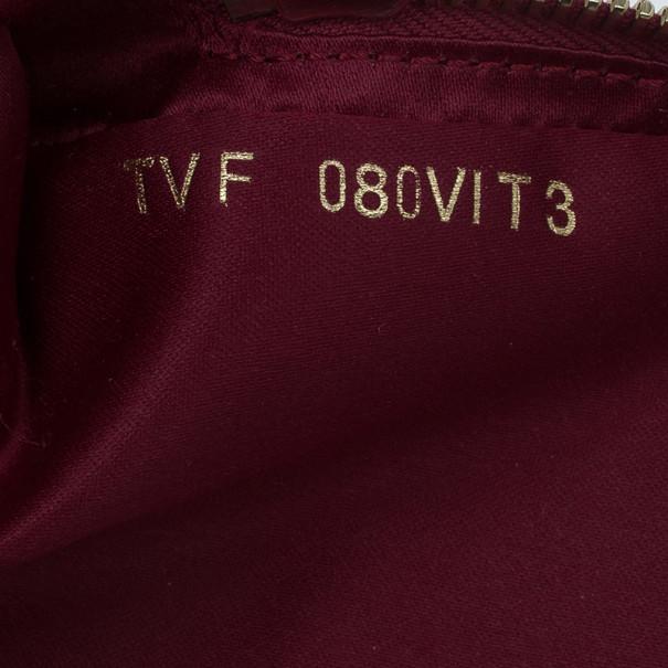Valentino Red Leather Platinum Stud Rockstud Shoulder Bag