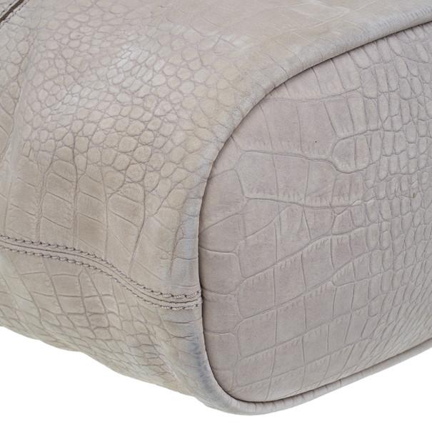 Givenchy Beige Leather Elephant Print Nightingale Tote