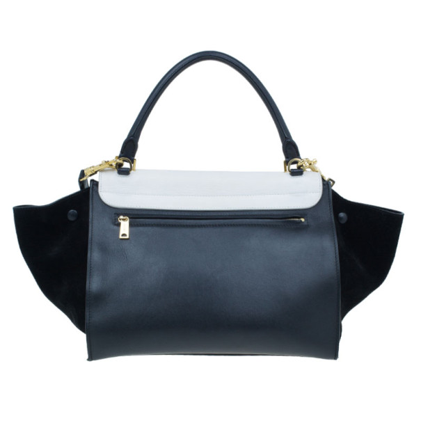 Celine Two Tone Leather Trapeze Bag