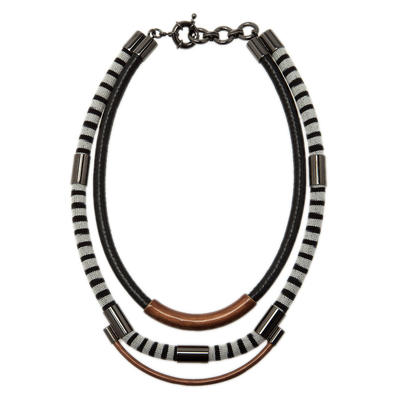 Missoni Three Strands Multicolor Silver Tone Necklace