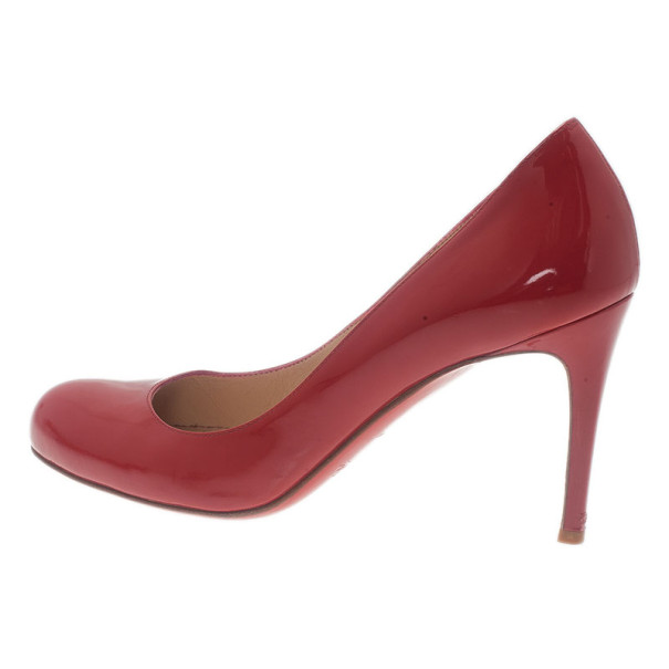 Christian Louboutin Red Patent Simple Pumps Size 37