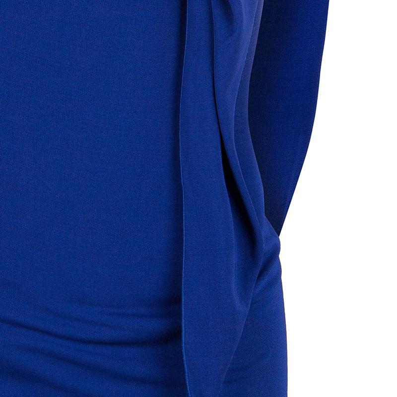 Jean Paul Gaultier Blue One Shoulder Dress M