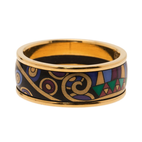 Frey Wille Gold-Plated Multicolor Ring Size 57