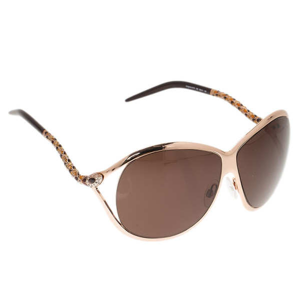 Roberto Cavalli Gold Morganite Sunglasses