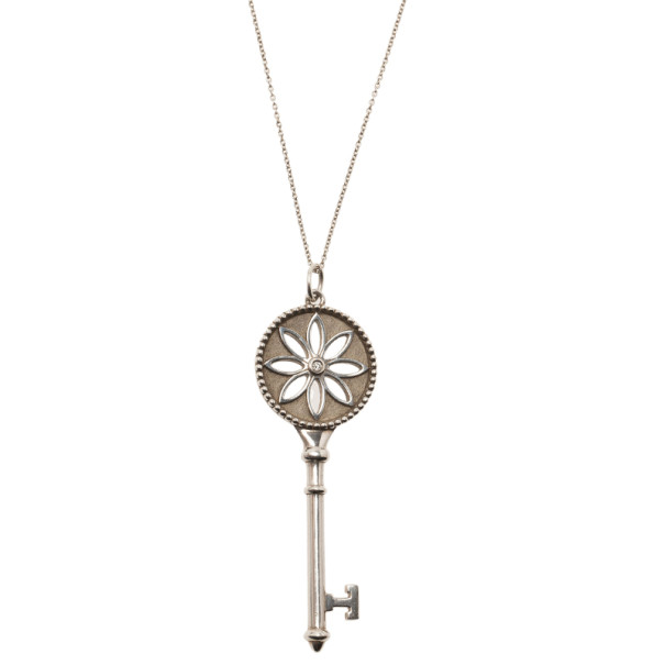 Tiffany & Co. Daisy Key Silver Pendant Necklace