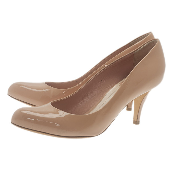 Dior Nude Patent Miss Dior Pumps Size 36