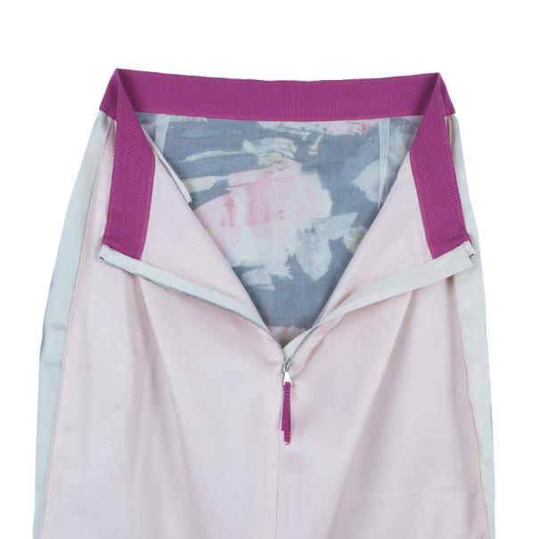 Dolce and Gabbana Silk Gathered Floral Skirt M