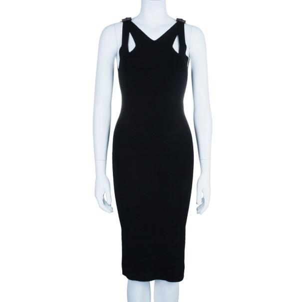 Gucci Bamboo Detail Cutout Bodycon Dress S