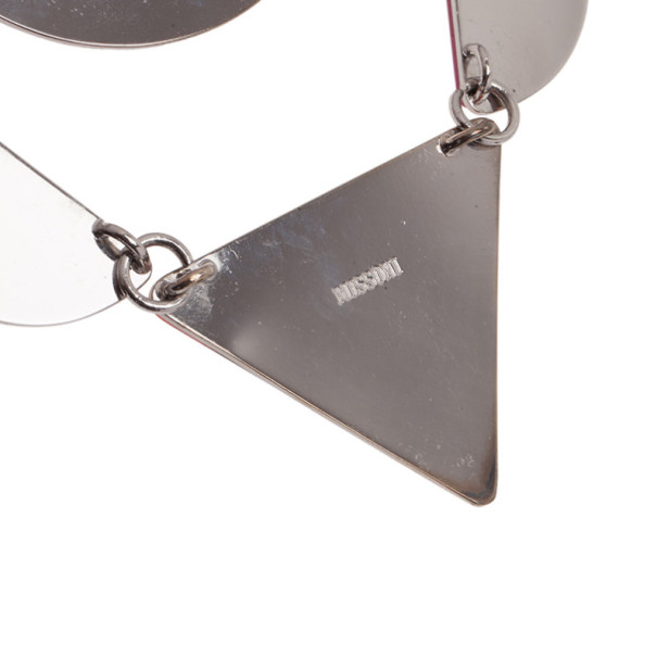 Missoni Geometric Acetate Bib Necklace