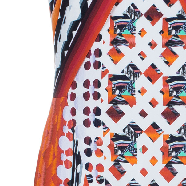 Peter Pilotto X Print Collar Fitted Dress M