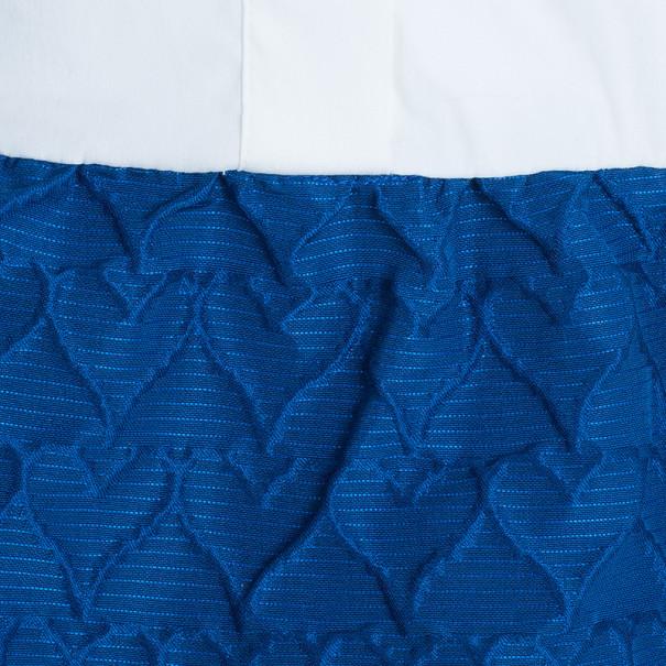 RED Valentino Colorblock Textured Maxi Dress M