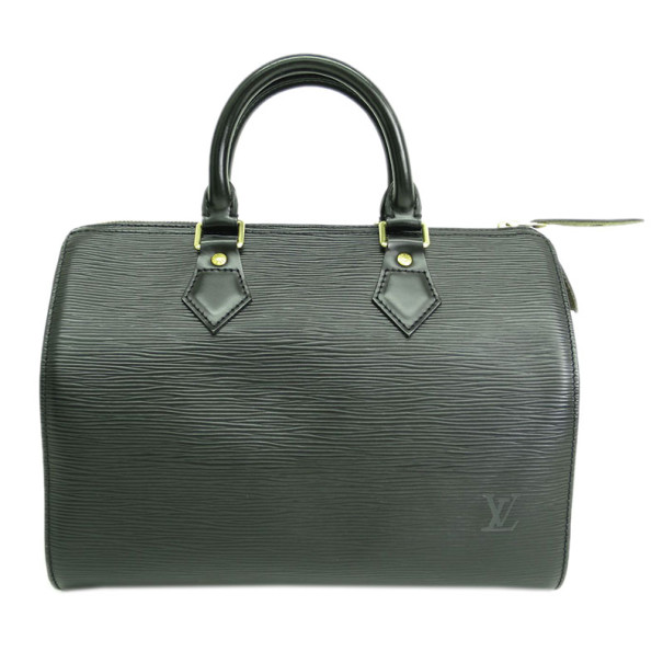 Louis Vuitton Black Epi Leather Speedy 25