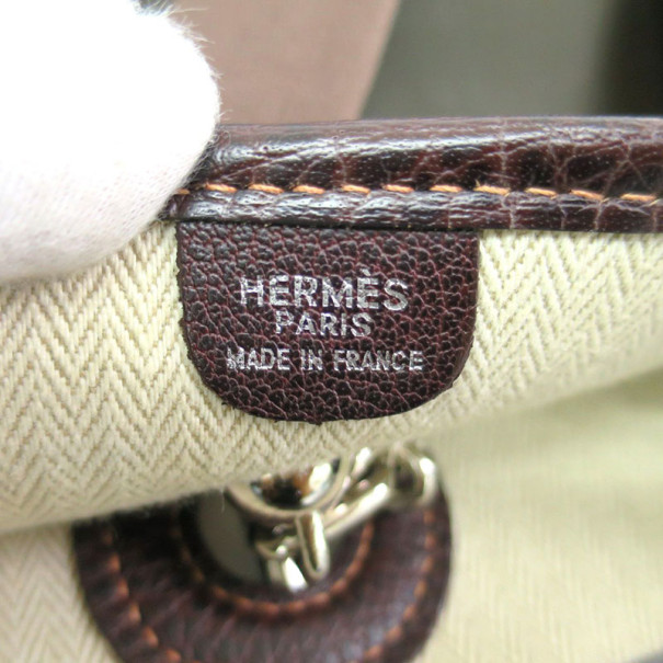 Hermes Brown Buffle Leather Vespa GM