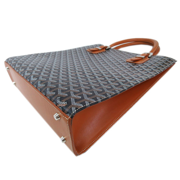 Goyard Black and Brown Coated Canvas Comore Tote Bag